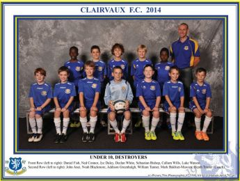 Clairvaux FC Junior Teams 2014
